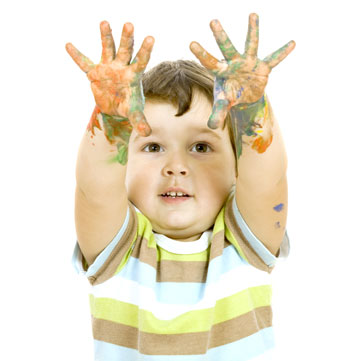 finger paint boy